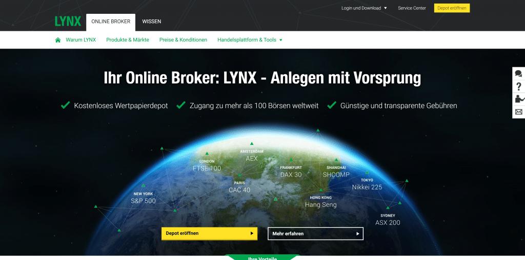 LYNX-Depot: Kosten, Gebühren & Leistungen