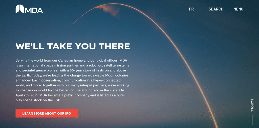 MDA Space-Aktie