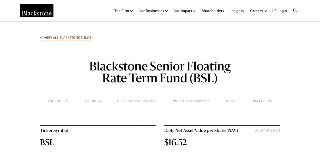 Blackstone Senior Floating Rate Term Fund