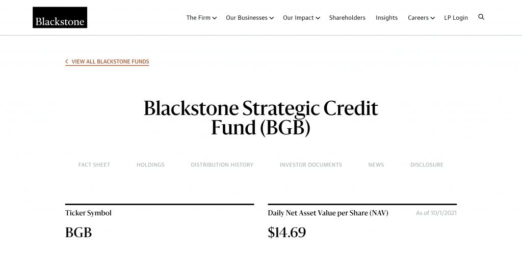 Blackstone Strategic Credit Fund