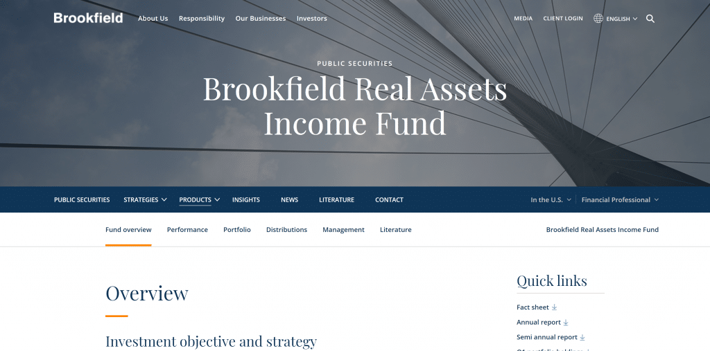 Brookfield Real Assets Income Fund